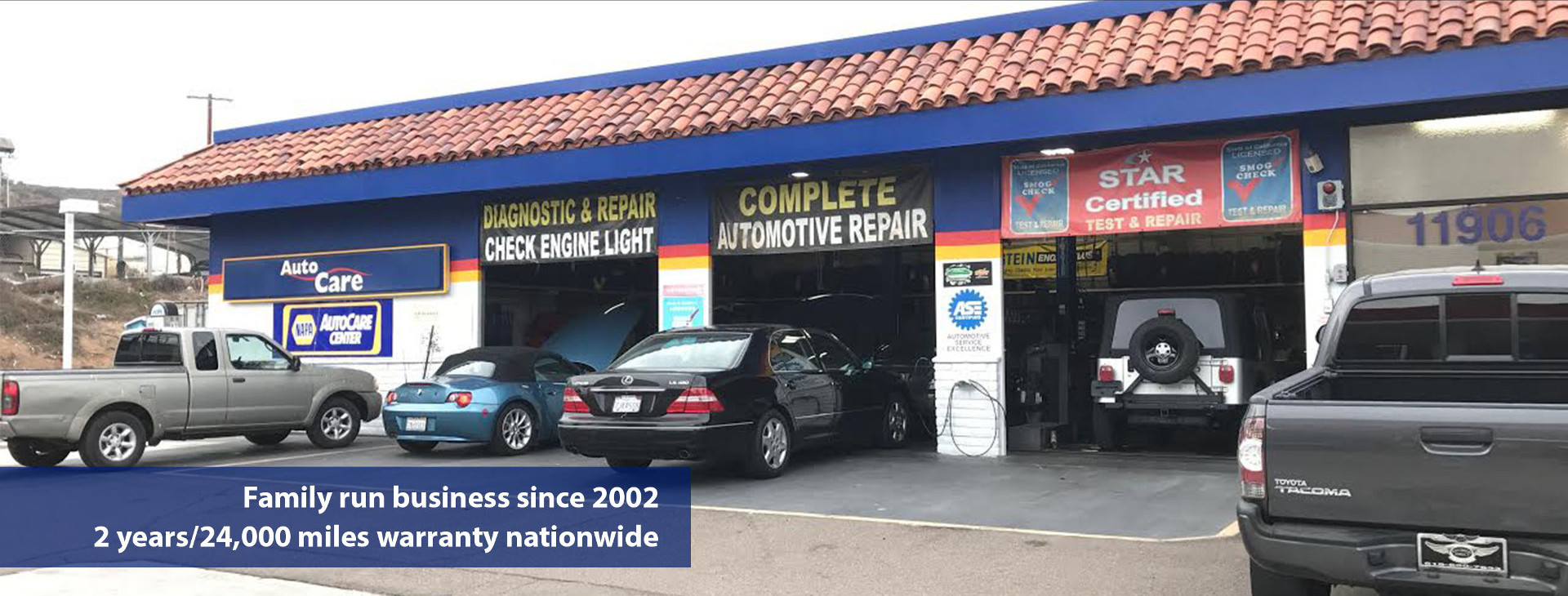 Diagnostic & Repair Center, Check Engine Light - Smog check San Diego